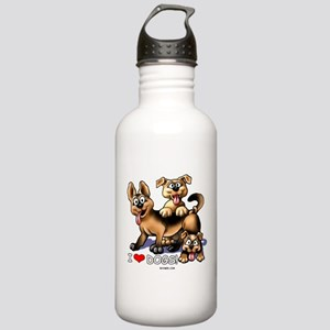I Love Dogs Stainless Water Bottle 1.0L