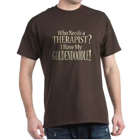 THERAPIST Goldendoodle Dark T-Shirt