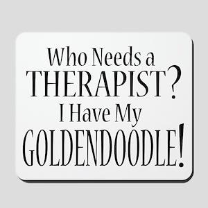 THERAPIST Goldendoodle Mousepad