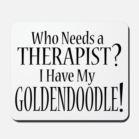 THERAPIST Goldendoodle Mousepad