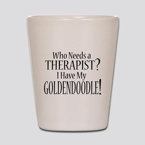 THERAPIST Goldendoodle Shot Glass