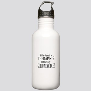 THERAPIST Goldendoodle Stainless Water Bottle 1.0L