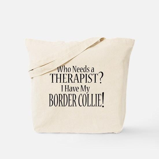 THERAPIST Border Collie Tote Bag