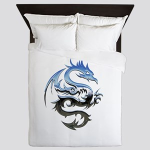 Dragon triabal design Queen Duvet