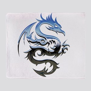 Dragon triabal design Throw Blanket