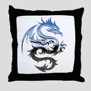 Dragon triabal design Throw Pillow