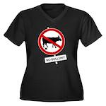 No BS 1 Women's Plus Size V-Neck Dark T-Shirt
