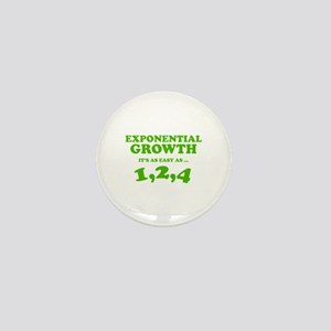 Exponential Growth Mini Button