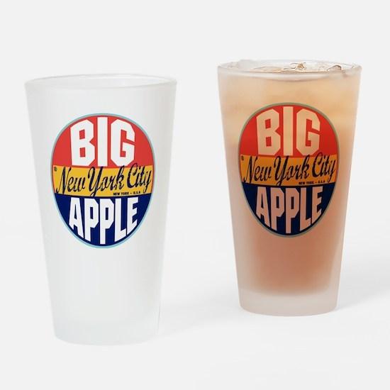 New York Vintage Label Drinking Glass