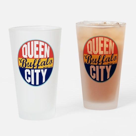 Buffalo Vintage Label Drinking Glass