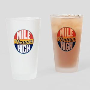 Denver Vintage Label Drinking Glass