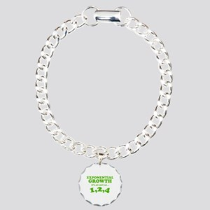Exponential Growth Charm Bracelet, One Charm