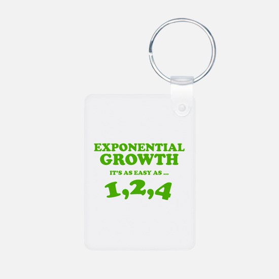 Exponential Growth Keychains