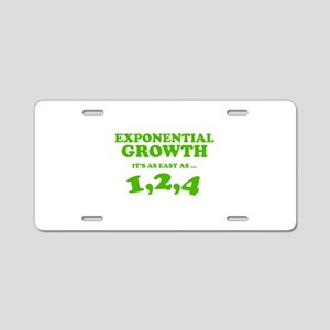Exponential Growth Aluminum License Plate