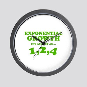 Exponential Growth Wall Clock