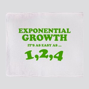 Exponential Growth Throw Blanket