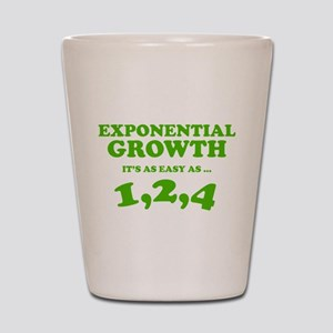 Exponential Growth Shot Glass