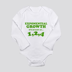 Exponential Growth Long Sleeve Infant Bodysuit
