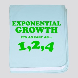 Exponential Growth baby blanket