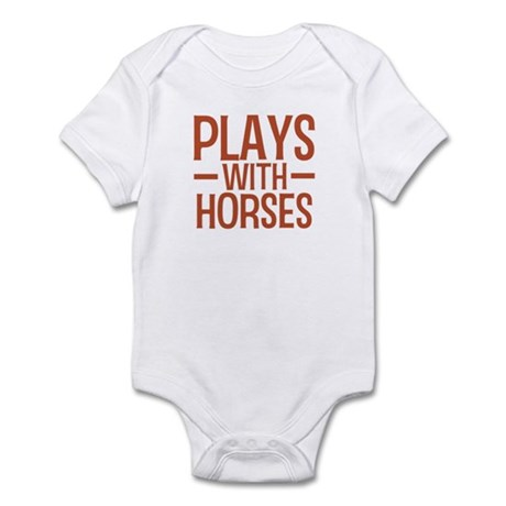 PLAYS Horses Infant Bodysuit