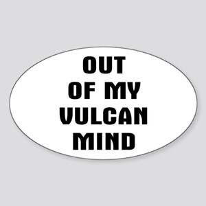 Out Vulcan Sticker (Oval)