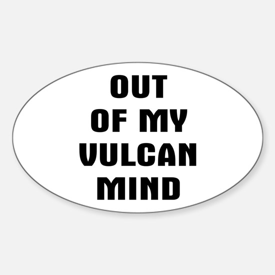Out Vulcan Sticker (Oval)