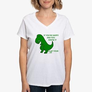 Clap Your Hands Women's V-Neck T-Shirt