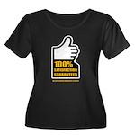100% Women's Plus Size Scoop Neck Dark T-Shirt