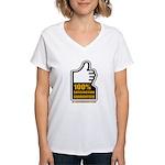 100% Women's V-Neck T-Shirt