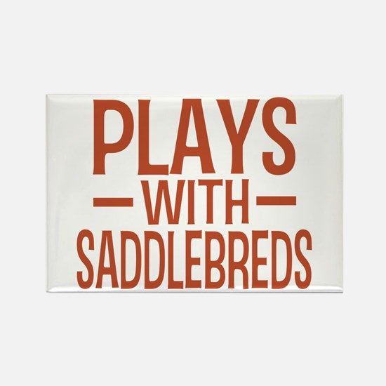 PLAYS Saddlebreds Rectangle Magnet