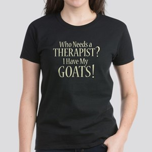 THERAPIST Goats Women's Dark T-Shirt