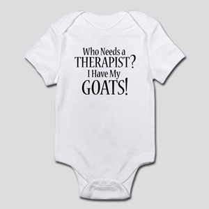 THERAPIST Goats Infant Bodysuit