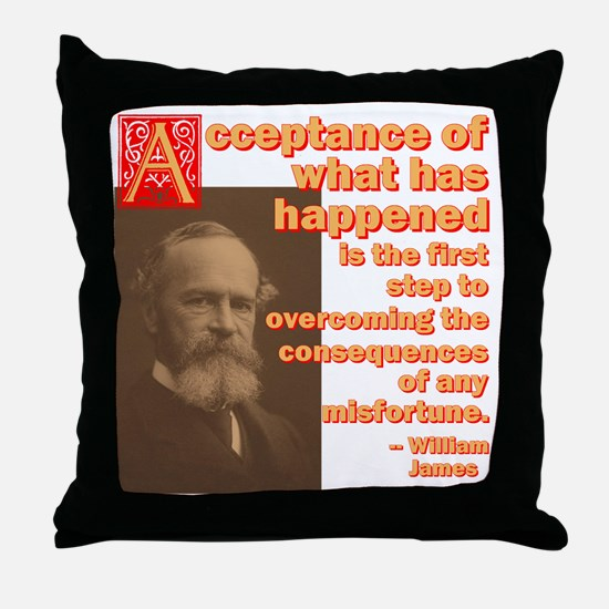 Acceptance The First Step Throw Pillow