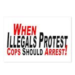 Illegals, Cops Should Arrest  Postcards (Package o