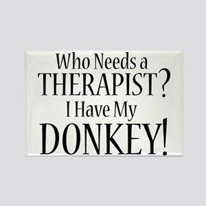 THERAPIST Donkey Rectangle Magnet