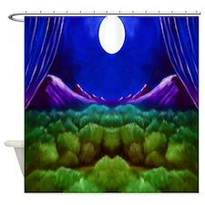 Moon Mountain Shower Curtain