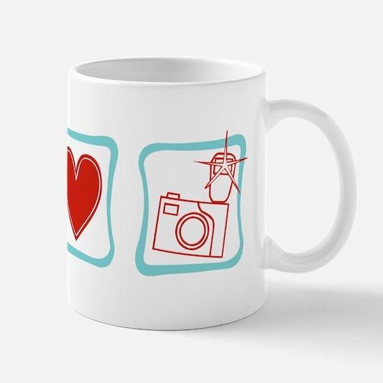 Peace, Love and Photographers Mug