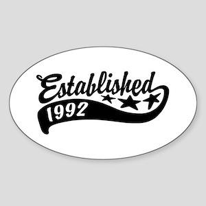 Established 1992 Sticker (Oval)