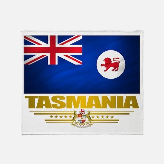 """""""Tasmania Flag"""" Throw Blanket"""