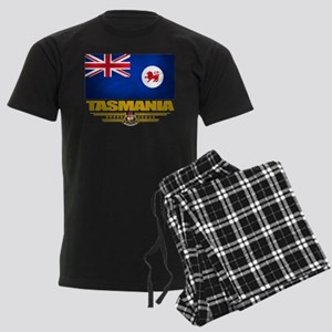 """Tasmania Flag"" Men's Dark Pajamas"