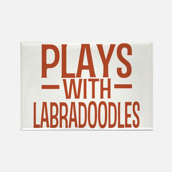 PLAYS Labradoodles Rectangle Magnet