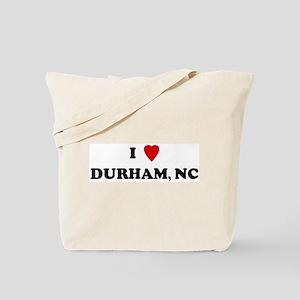 I Love Durham Tote Bag