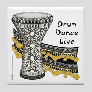 Drum Dance Live Tile Coaster