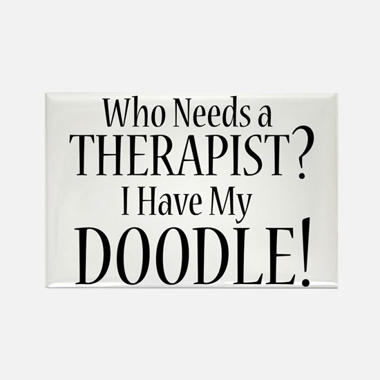 THERAPIST Doodle Rectangle Magnet