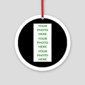 TRIO (3) PERSONAL PHOTOS YOU CHOOSE Round Ornament