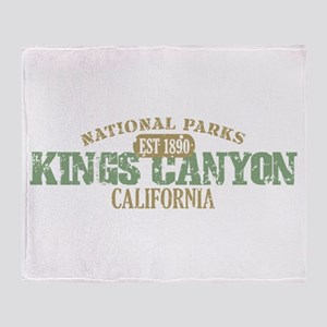 Kings Canyon National Park CA Throw Blanket