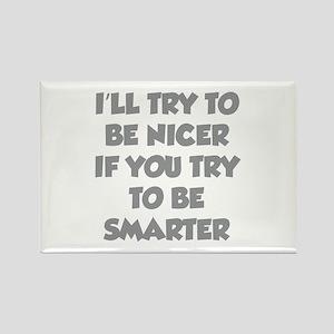 Be Smarter Rectangle Magnet