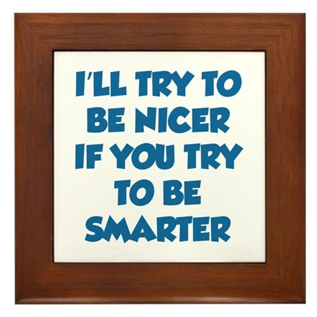Be Smarter Framed Tile