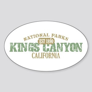 Kings Canyon National Park CA Sticker (Oval)