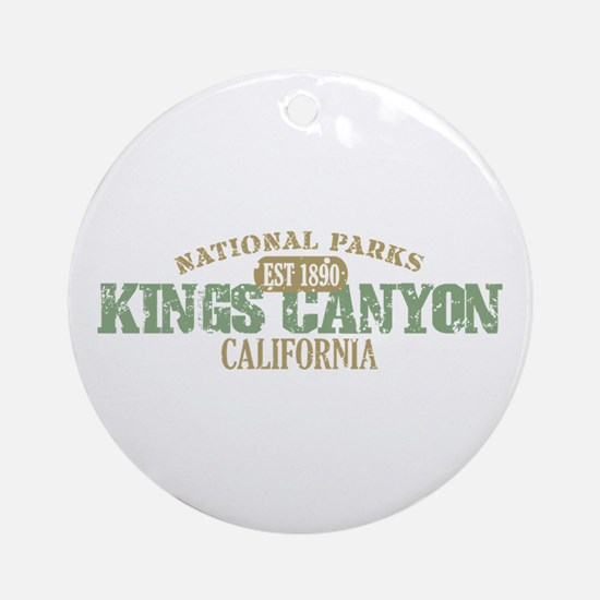Kings Canyon National Park CA Ornament (Round)